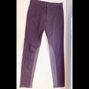 Rag & Bone Burgundy Intermix Leather Denim/Jeans